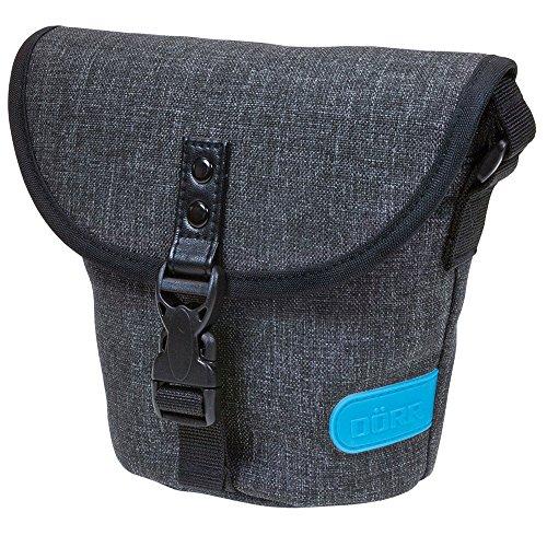 Dörr 463376 City Basic gross Fototasche für 1 Kompakt/SLR Kamera mit Objektiv und 1 Systemblitzgerät grau/blau