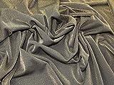 Glitzernde Lurex Ponte Roma Stretch Jersey Knit Kleid Stoff gold auf schwarz–Meterware