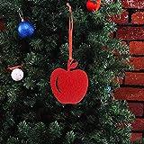 Gmgqsago Weihnachtsbaum-Anhänger mit rotem Apfel, 10 Stück