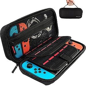 Deruitu Nintendo Switch Tasche mit 20 Spielkarten-Täschen, harte Schuthülle auf die Reise für Nintendo Switch Konsole & Accessories von Hestia