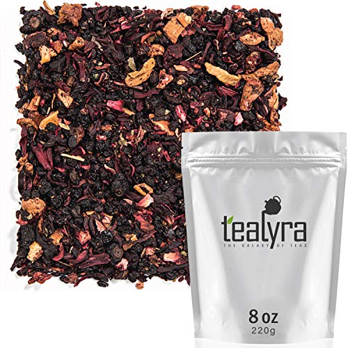 Tealyra - Grandma's Garden - Berry and Fruit Tea - Pure Herbal Tea - Loose Leaf Tea - Caffeine Free - Hot & Ice Tea - All Natural - 220g