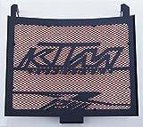 Kühlerverkleidung/Kühlerabdeckung 1290 R Superduke Mattes Schwarz + Orangefarbiges Schutzgitter
