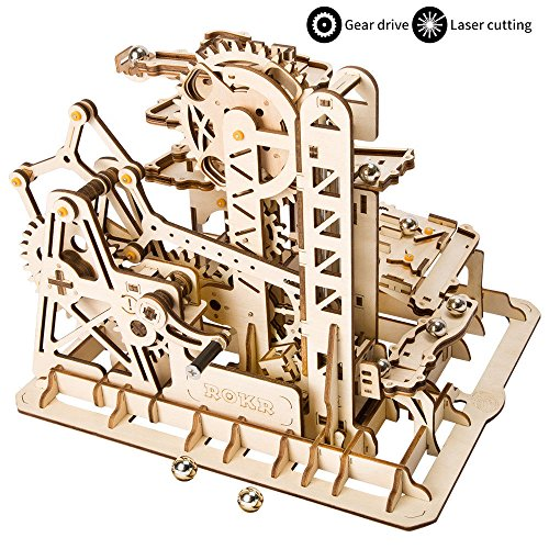 ROKR Mechanical Gears DIY Building Kit Modelo mecánico Kit de construcción con Bolas para Adolescentes y Adultos (Tower Coaster)