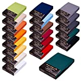 SPANNBETTLAKEN WASSERBETTEN BOXSPRINGBETTEN 180x200-200x220 165gr/m² Öko-Tex-Zertifikat Avantgarde 100% Baumwolle 19 Farben (15-dunkelgrün)