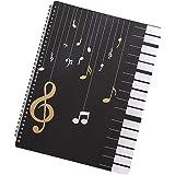 DEDC A4 Chemise de Partitions, 30 Pages Dossier de Rangement Imperméable pour Partitions de Musique, Stockage de Papier de Ch
