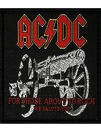 AC/DC Badges for Those About to Rock Patch tissé 7x 8cm
