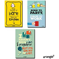 Artangle Fiberboard Creative Fridge Magnets (Set of 3)