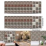 18 Stück selbstklebende wasserdichte schwarze Marmor Mosaik Wandkunst Küche Fliesen Aufkleber