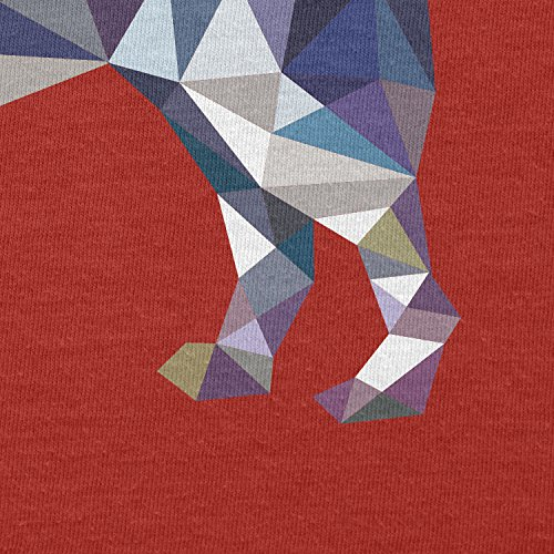 TEXLAB–Poly Dog–Sacchetto regalo in tessuto Rot