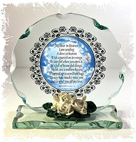 Gedicht-Plaque geschliffenes Glas