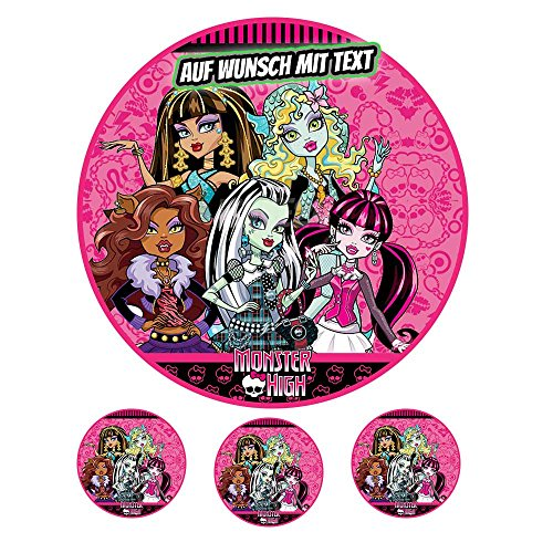 Tortenaufleger Geburtstag Tortenbild Zuckerbild Oblate Motiv: Monster High 03 (Zuckerpapier) (Monster High Kuchen Dekoration)