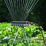 Gardena 1971-20 Regner Comfort Aquazoom 250/1 (Beregnete Fläche 105 - 250 qm; Reichweite 7 - 17 m; Sprengbreite bis 15 m ) zur Bewässerung kleinerer Rechtecksflächen -