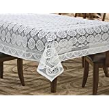 Griiham 4 Seater Table Cover Coffee Table Cover Center Table White Designer Table Cover 60*40