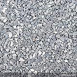 Steinteppich Marmorkies für 2qm | BEKATEQ BK-600EP Bodenbelag Bodenbeschichtung (25KG Marmorkies + 1,5KG Bindemittel, Grigio Bel)