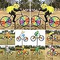 ECMQS Nette 3D Tier auf Bike Windmühle Wind Spinner Whirligig Garten Rasen Yard Decor von ECMQS - Du und dein Garten