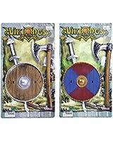 Viking Sword, Shield + Axe Set
