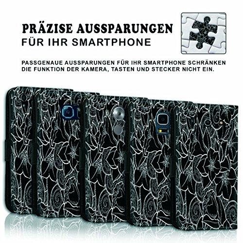 Wallet Book Style Flip Handy Tasche Case Schutz Hülle Schale Motiv Etui für Apple iPhone 6 / 6S - Variante UMV18 Design12 Design 9