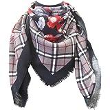 tessago foulard dis 927411 lana 100% misura cm 90 X 90 var nero grigio rosso
