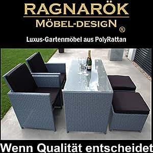 Meubles de jardin en polyrotin marque allemande eignene production 8 ans de garantie sur for Marque mobilier de jardin