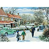 """Falcon DeLuxe -Winter Round - 500 Piece Jigsaw Puzzle """"New August 2015"""""""