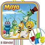 Biene Maja Pinata zum Ziehen mit 8 Bändern 43cm, Pinataspiel Bienchen Mottoparty
