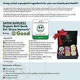 Bio Badekugeln Divine Moments/Edles 6er Set von höchster Qualität/Badepralinen in hochwertiger Geschenkbox mit Satinschleife/Vegane Geschenkidee für die Frau