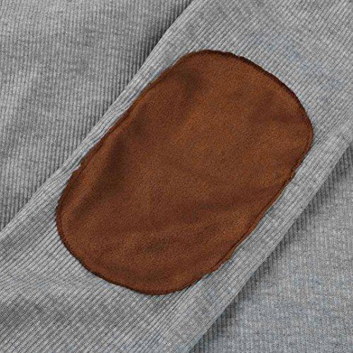 Cappotto Donna , Rcool Patchwork Fronte aperto irregolare Moda cotone giacca in maglione con cappuccio giacca sottile Inverno Cerniera, giacca a vento, Outwear Grigio