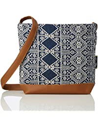 Kanvas Katha Stylish Jacquard Sling Collection Women's Bag (Multi-Color)