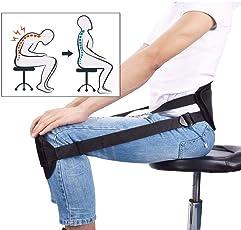 BackerZ #1 Back Posture Corrector Belt | Eases Lower Back Pain | Back Straight | For Men & Women | Innovative & Comfortable | Doctor Recommended | Portable | Instruction Manual