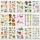 SZSMART Zoo Tier Temporäre Tattoos, Tier Sticker Tattoos, Klebe-Tattoos Für Kinder Mädchen Jungen Aufkleber Sticker für Kindergeburtstag Mitgebsel Gastgeschenke Party Spielzeug