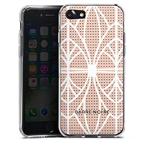 Apple iPhone X Silikon Hülle Case Schutzhülle Muster BARRE NOIRE Pink Grid Silikon Case transparent