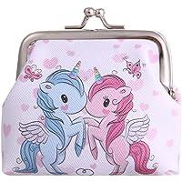 Rawisu Portafoglio Unicorno Portafoglio Donna Modello Unicorno Arcobaleno Mini Portafoglio Stampato con Apertura a Molla…