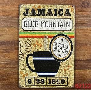 plaque publicitaire metal aluminium fer tole retro vintage Café Caraïbes Jamaïque