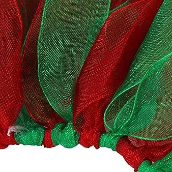 Rameng Noël Costume Pour Petit Chien Chats Bell et Pine Collier Animal de Compagnie Chiot (S, Vert)