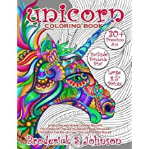 Unicorn Coloring Book (Adult Coloring Gift): A Unicorn and Horse Lovers Delight Featuring 30+ Majestic Design Pages To Color | Patterns For ... Stress Relief: Volume 1 (Majestic Unicorn)