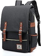 EssVita Vintage Rucksack Herren Damen Unisex School Student Oxford Laptop Rucksack Retro Rucksäcke Schulrucksack