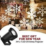 E-Foxer Wasserdichte außen LED Weihnachtsbeleuchtung, 10m x 10m breite Lichtabdeckung, keine störenden Kabel oder Glühbirnen (Snowflake light)
