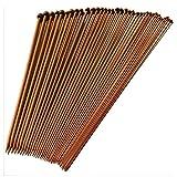 Migavenn 36pcs 2-10mm Différentes Tailles Simples Aiguilles à Tricoter en Bambou...