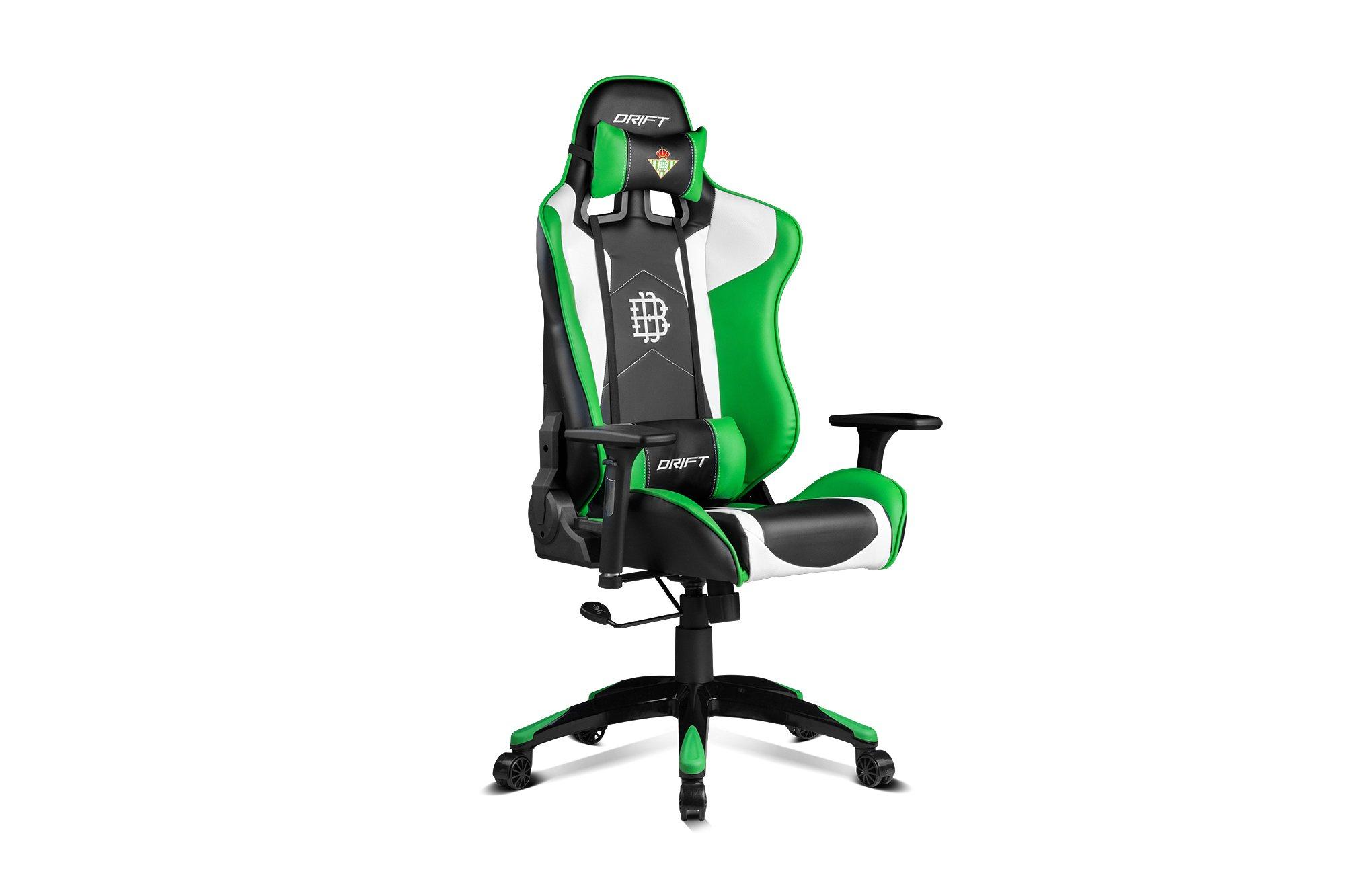 Drift Real Betis Edicion Especial – DRREALBETIS – Silla Gaming, Color Negro/Verde/Blanco