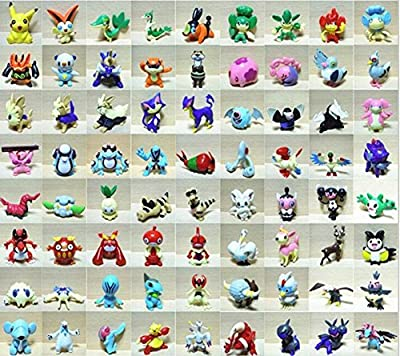 144 pcs/set Pokemon Figures Toy Cartoon Anime Mini Pokemon Action Figures Children's Toys Birthday Gifts Mixed 2-3cm by Mini Pokemon Action Figures por Idesire