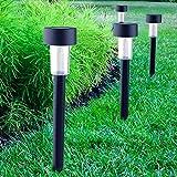 Cellay 10 in 1 Solar-angetriebene LED-Garten-Lichter Perfekte Neutral-Design macht Garten-Pfade groß und beleuchtet. 10 Stücke