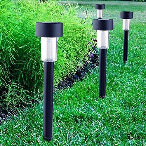 Garten-licht-lampe (Cellay 10 in 1 Solar-angetriebene LED-Garten-Lichter Perfekte Neutral-Design macht Garten-Pfade groß und beleuchtet. 10 Stücke)