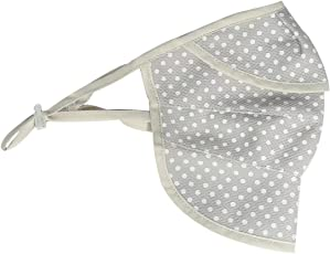 SYGA Dotted Pattern Breathable mesh UV mask for Women (Grey)