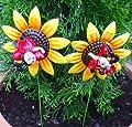 Gartenstecker 2er Set Marienkäfer auf Sonnenblume von DRAGIMEX bei Du und dein Garten