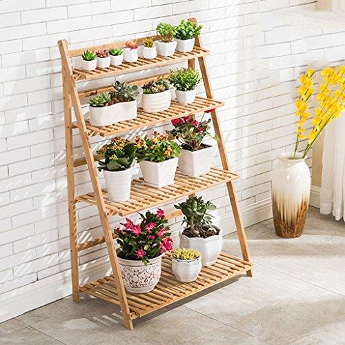 QFF Racks de fleurs Bamboo Indoor and Outdoor Multilayer Flower Shelf Living Room Flower Pot Rack Floor Stand Balcon ( taille : 70cm )
