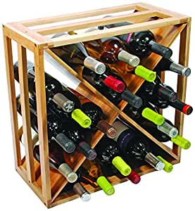 Croisillons en bambou naturel en bois pour 24bouteilles de vin