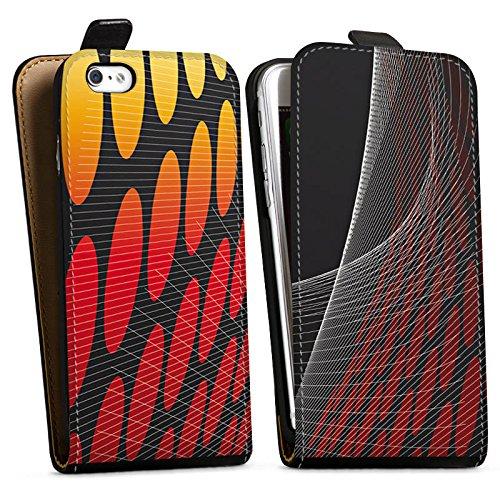 Apple iPhone X Silikon Hülle Case Schutzhülle Punkte Muster Dunkel Downflip Tasche schwarz