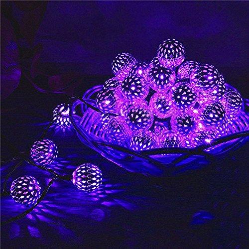 HE-lamp 20 LED Solarbetriebene Outdoor String Lichter, Silber Ball Chrismas Globus Lichter Dekorative Beleuchtung Für Garten, terrasse, Hof, Hochzeit Dekorationen, Hause Festliche Atmosphäre Lichter