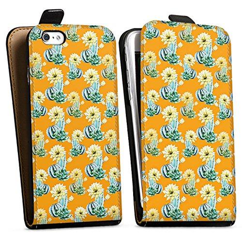 Apple iPhone X Silikon Hülle Case Schutzhülle Kaktus Muster Blume Downflip Tasche schwarz