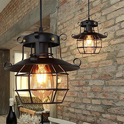Arvin87Lyly Lustre Industriel Suspension Vintage Creux Fer Lanterne Applique en Verre Lampadaire Pour Couloir Entrée Allée Porche Chambre Sous Sol Etc